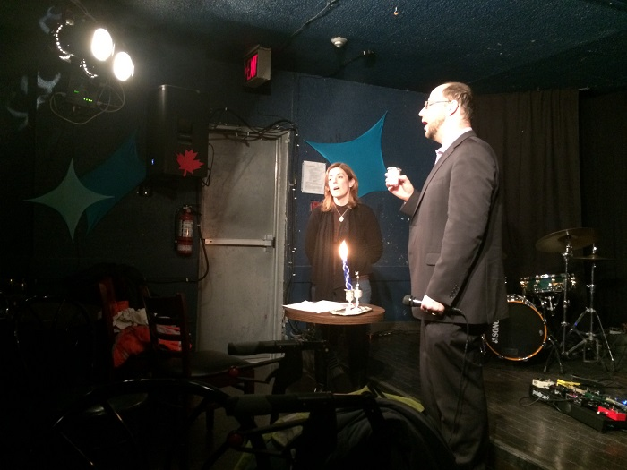 Jewish-Muslim Comedy Night April 14 2018 - Shabbat Ceremony